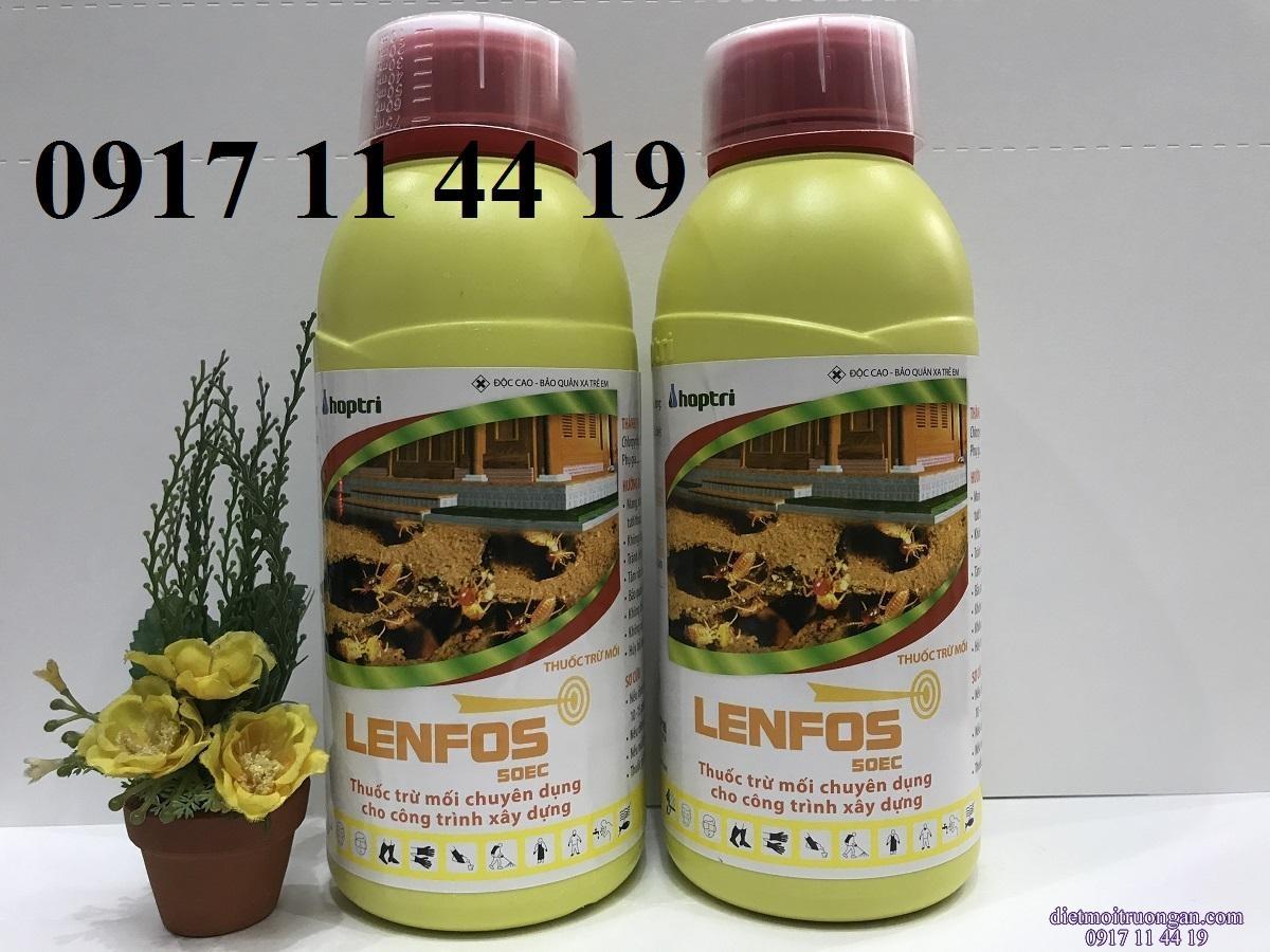 Thuốc  Diệt Mối Lenfos 50ec chai 1 lít giá 279.000 đ/lít,  bán sỉ giá rẻ nhất thị trường